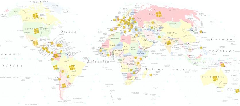 Países donde hay EESA
